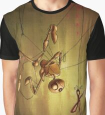 Staring Puppet at Scissors Graphic T-Shirt
