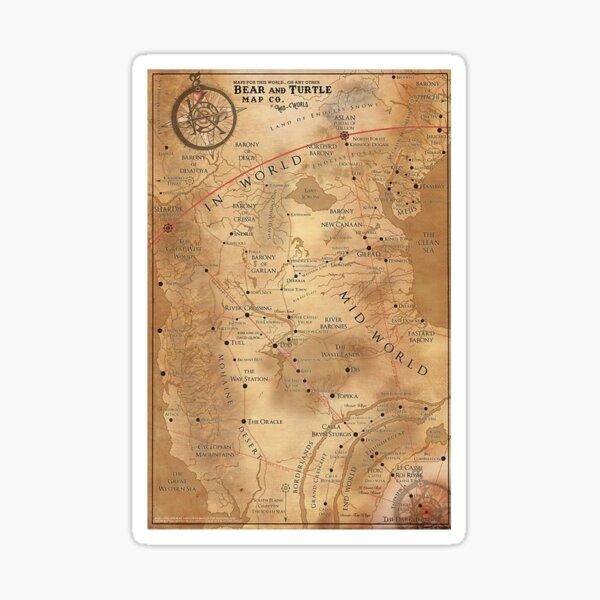 The Dark Tower - Mid-World Map     romjik Sticker