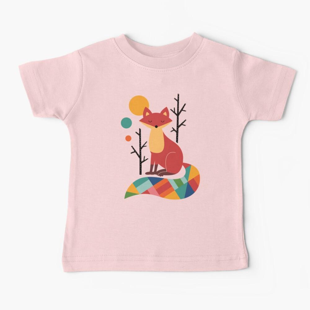 Rainbow Fox Baby T-Shirt