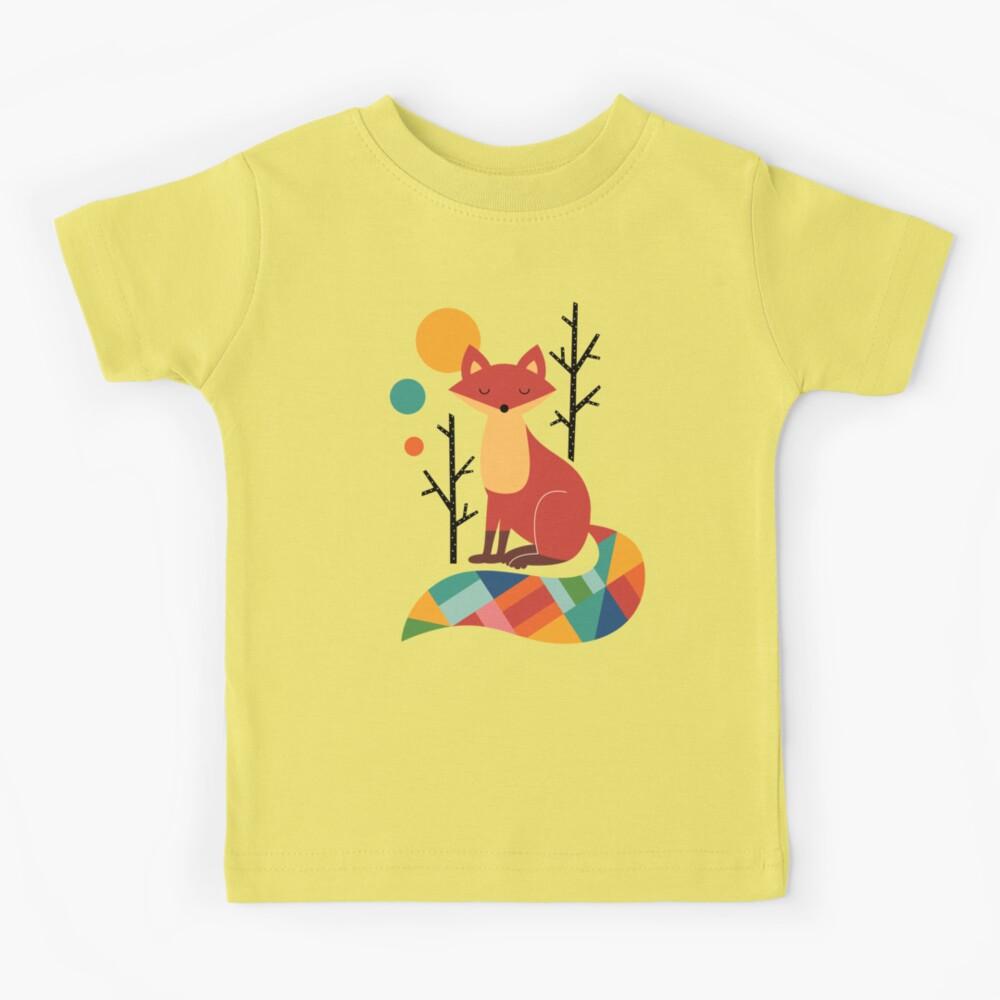 Rainbow Fox Kids T-Shirt