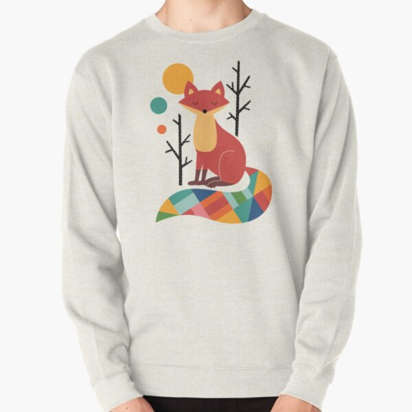 Rainbow Fox Pullover Sweatshirt