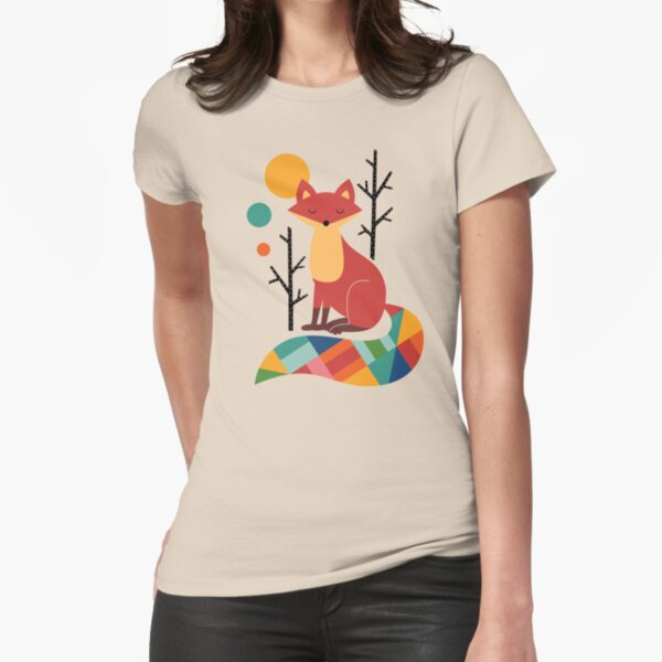 Rainbow Fox Fitted T-Shirt