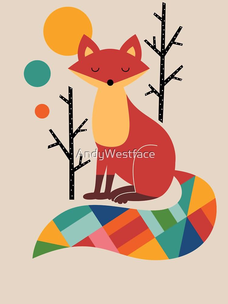 Rainbow Fox by AndyWestface