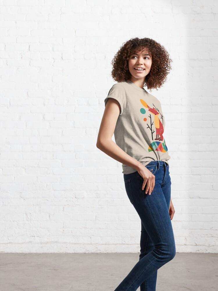 Alternate view of Rainbow Fox Classic T-Shirt