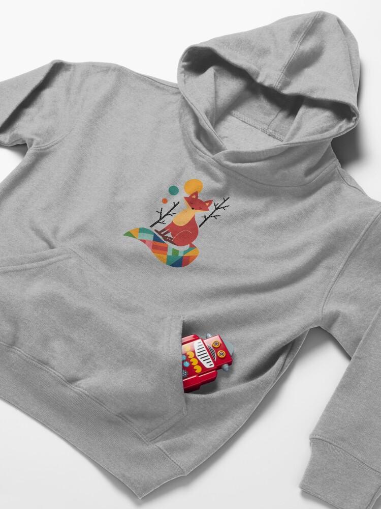 Alternate view of Rainbow Fox Kids Pullover Hoodie
