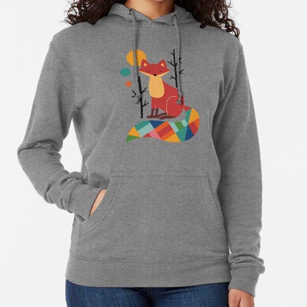 Rainbow Fox Lightweight Hoodie