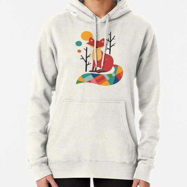 Rainbow Fox Pullover Hoodie