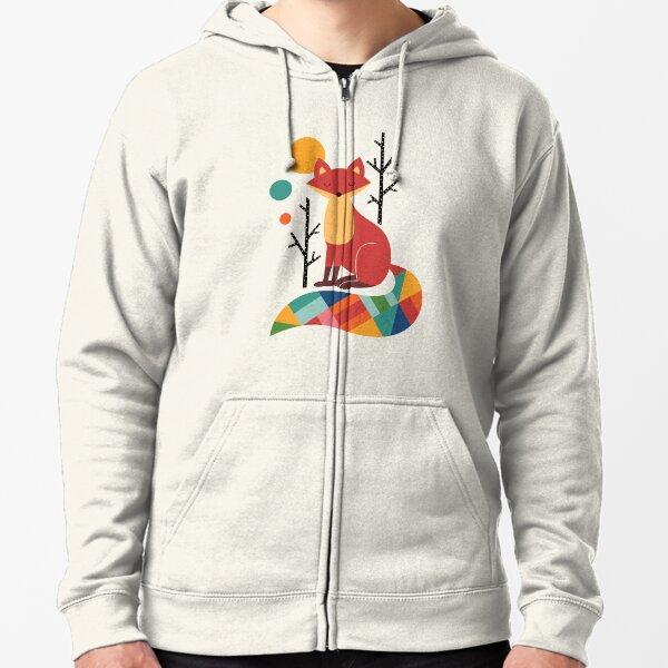 Rainbow Fox Zipped Hoodie