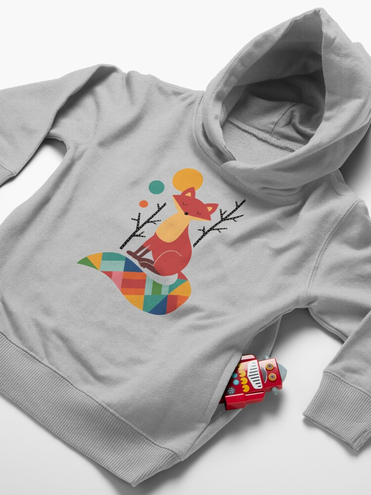 Alternate view of Rainbow Fox Toddler Pullover Hoodie