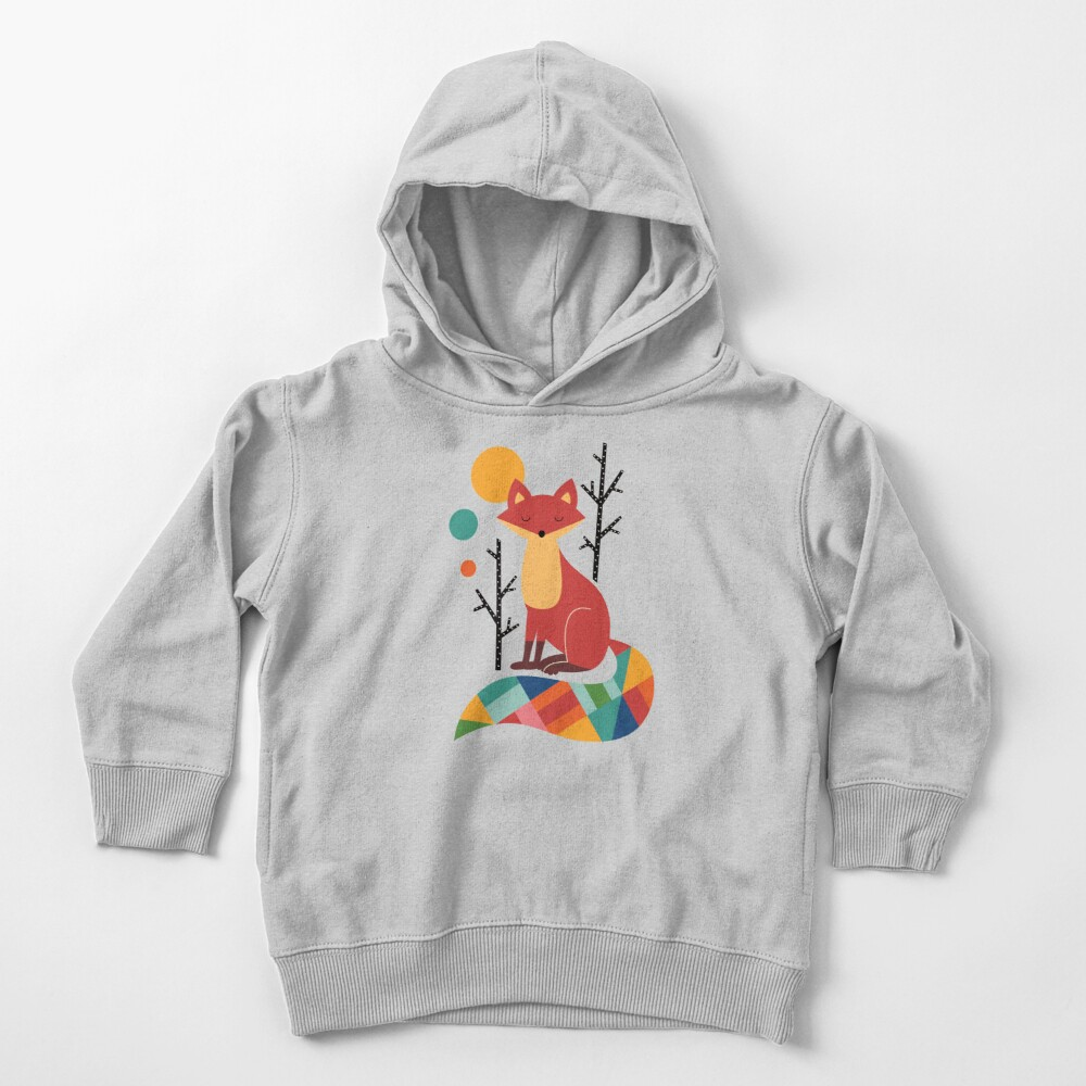 Rainbow Fox Toddler Pullover Hoodie