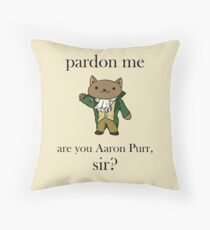 Alexander Hamilcat (Black Text) Throw Pillow