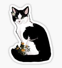 Flower Kitty Sticker