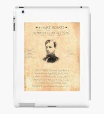 Robert Clay Allison Wanted iPad Case/Skin