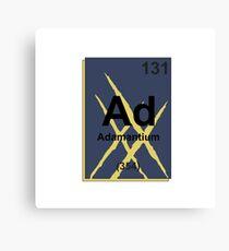 Adamantium Periodic Table - X23 Canvas Print