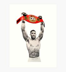 Anthony Joshua IBF World Heavyweight Champion (belt) Art Print