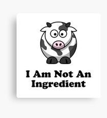 Ingredient Cow Canvas Print