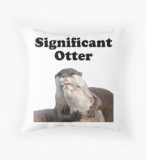 Bedeutender Otter Dekokissen