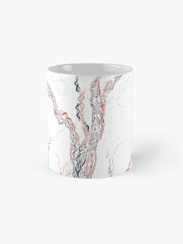 Alternate view of Genetic branches (hand drawn ink on paper) Mug