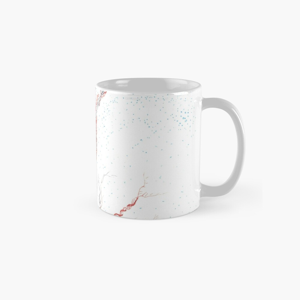 Genetic branches (hand drawn ink on paper) Mug