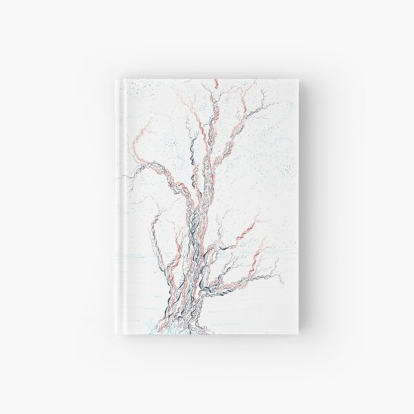 Genetic branches (hand drawn ink on paper) Hardcover Journal