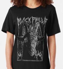 Schwarzes Metall Phillip Slim Fit T-Shirt