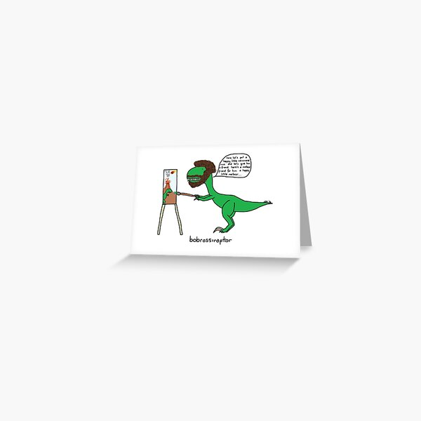 Bobrossiraptor Greeting Card
