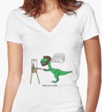 Bobrossiraptor Women's Fitted V-Neck T-Shirt
