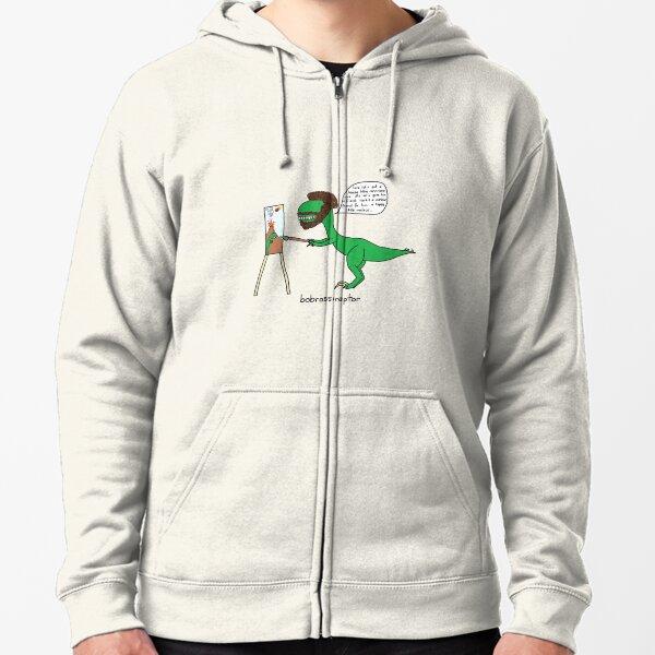 Bobrossiraptor Zipped Hoodie