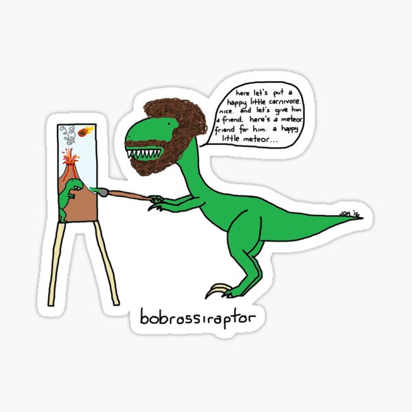 Bobrossiraptor Sticker
