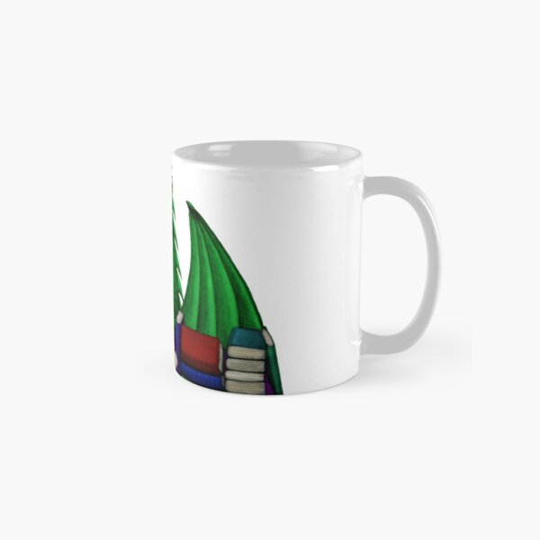 Green Dragon with Book Hoard Classic Mug
