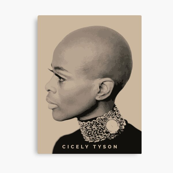 Cicely Tyson, Black African American Canvas Print