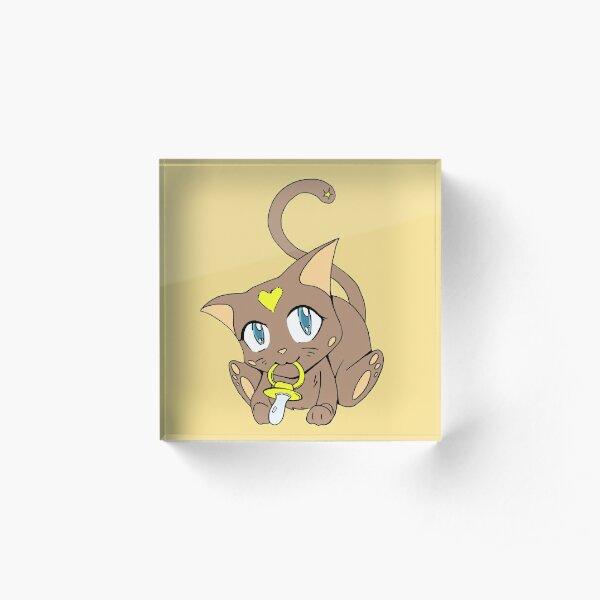 Cutest Baby Kitty-cat Acrylic Block