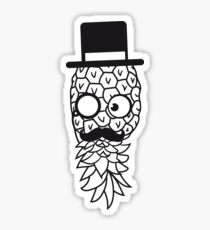 pineapple delicious food mr sir hat gentleman monokel cylindrical mustache mustache man funny face glasses Sticker