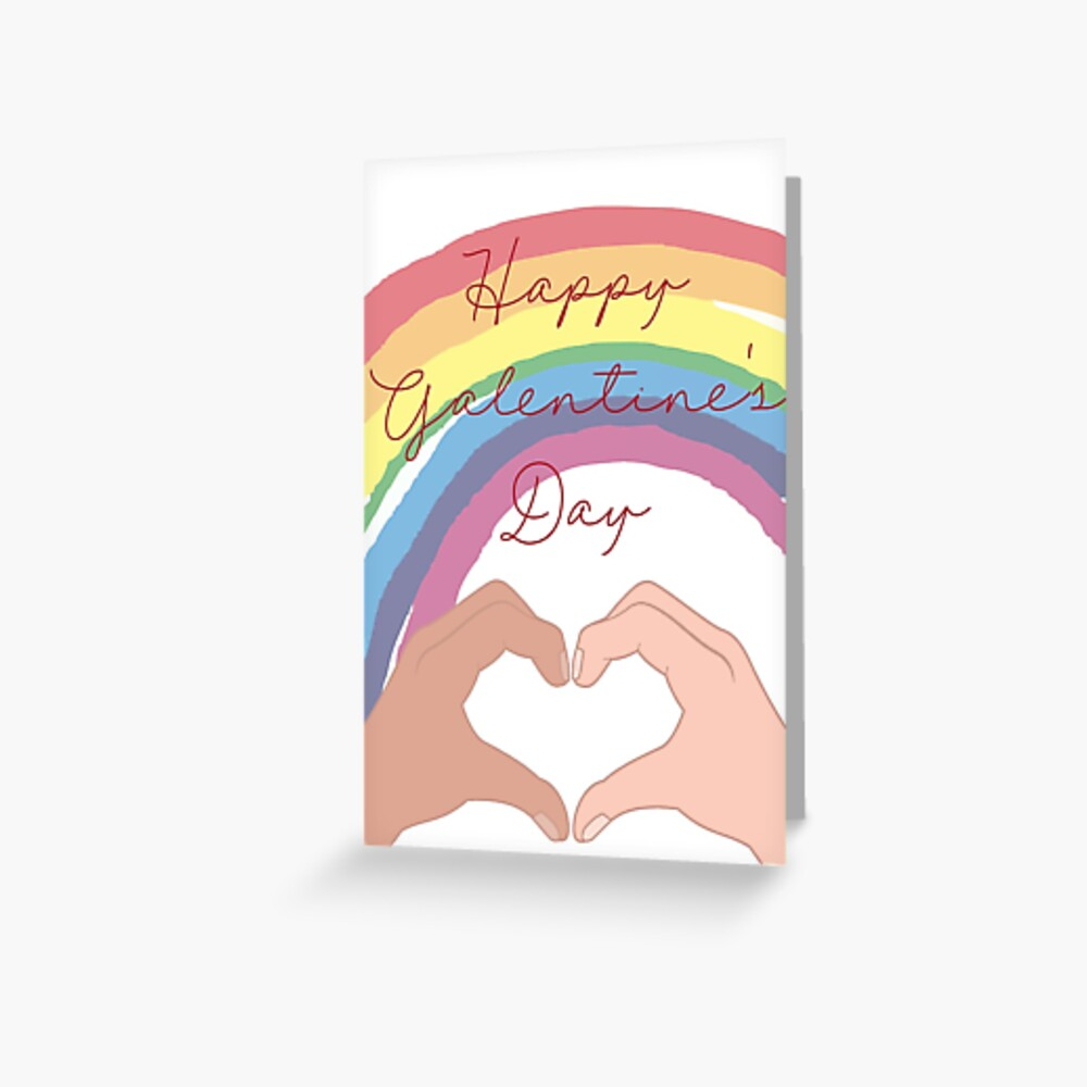 Happy Galentine's Day greetings card for besties and BFFs Greeting Card