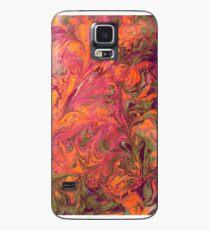Marmor | Persimmon und Pflaume Hülle & Klebefolie für Samsung Galaxy