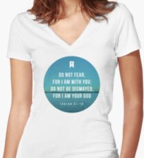 Isaiah 41:10 Women's Fitted V-Neck T-Shirt