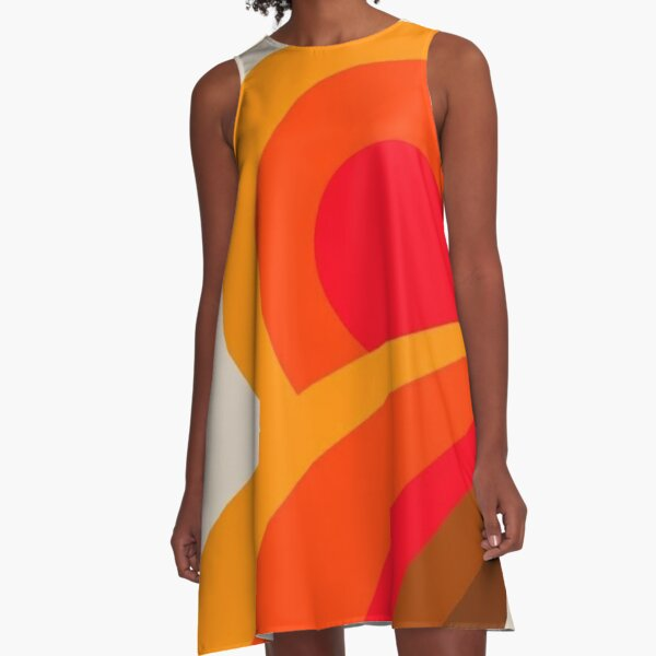 Rebirth of the 70s A-Line Dress