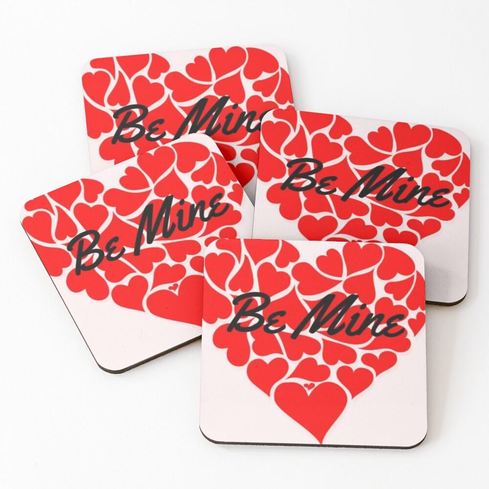 Happy valentine's  Coasters (Set of 4)