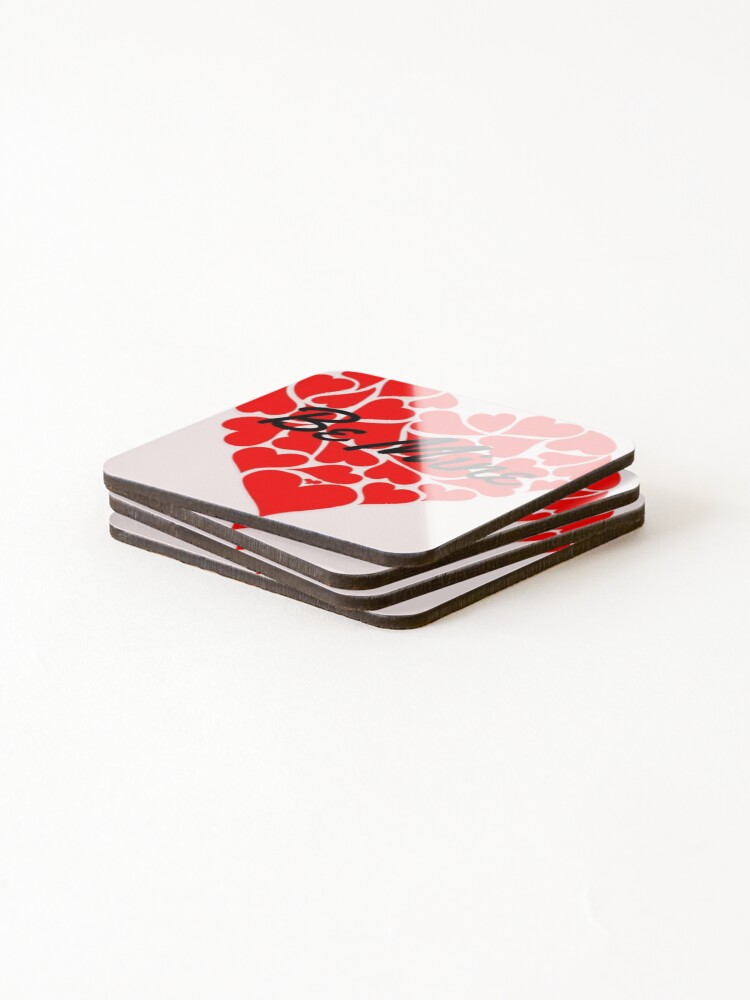 Alternate view of Happy valentine's  Coasters (Set of 4)