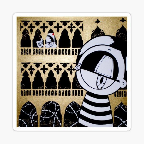 Looks in Venice kawaii street pop artwork Sticker