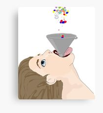 Happy little pill Canvas Print