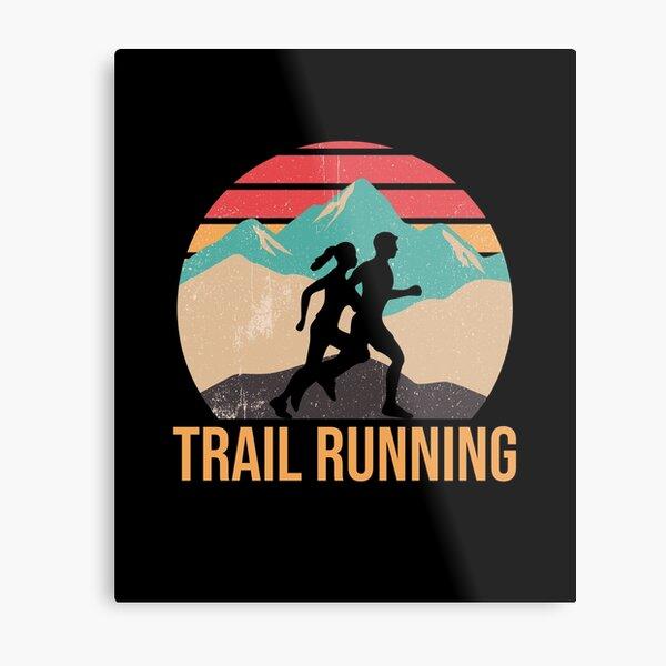 Trail Running Metal Print