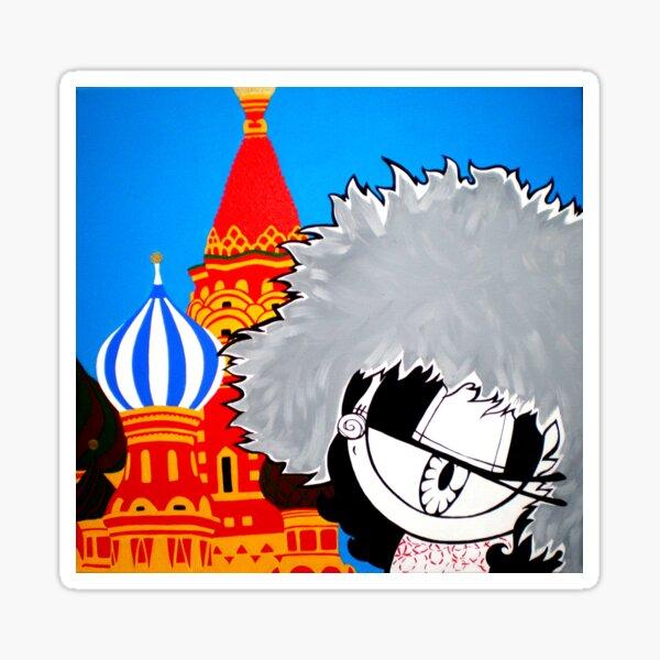 Stranger in Moscow kawaii street pop artwork Sticker