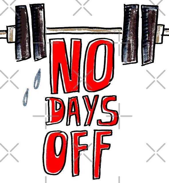 No days off by Michelle Tam