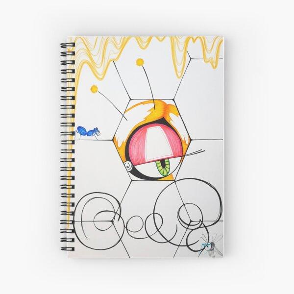 Beeg bee inspired kawaii street pop artwork Spiral Notebook