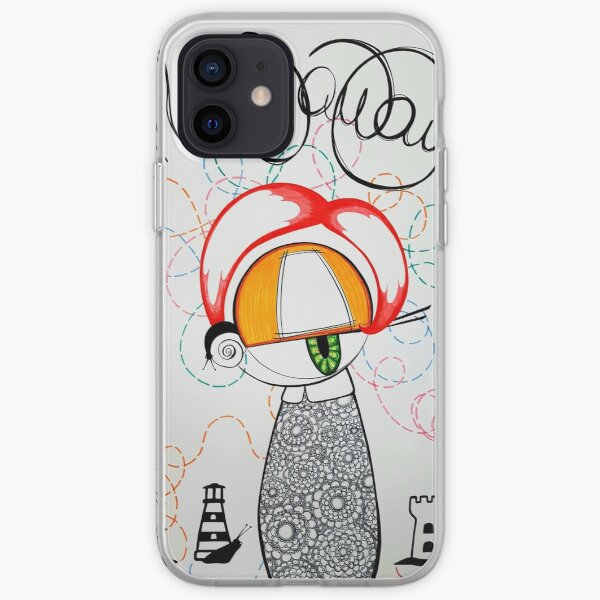 Snail Away snail inspired kawaii street pop artwork iPhone Soft Case