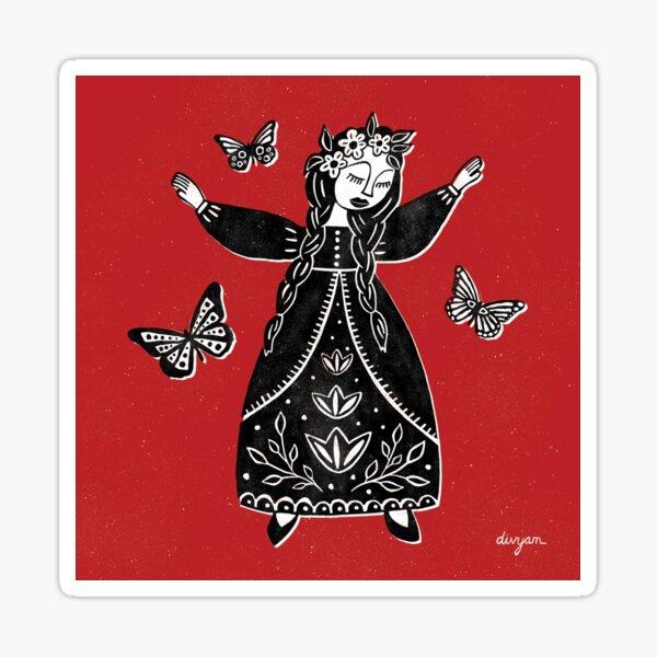 Dancing Maiden Sticker