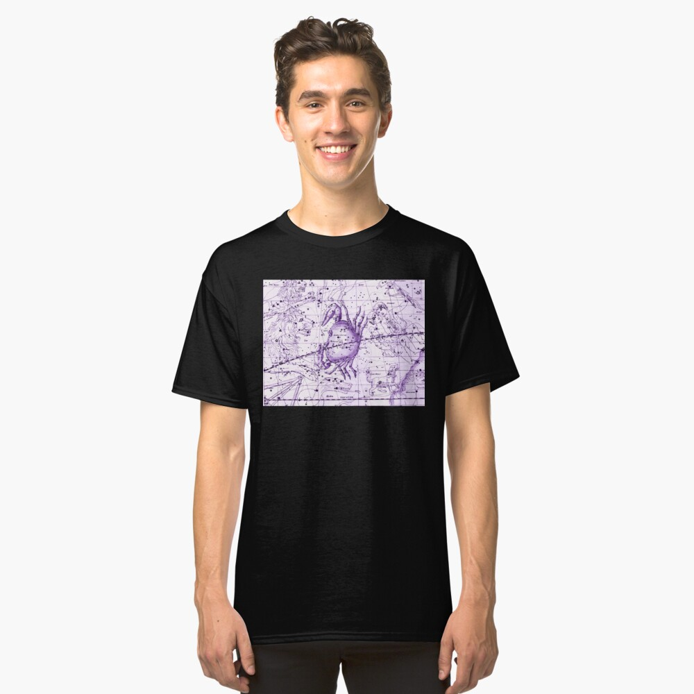 Astrologie in Lila Classic T-Shirt