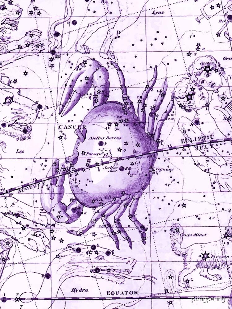 Astrologie in Lila von 5pennystudio