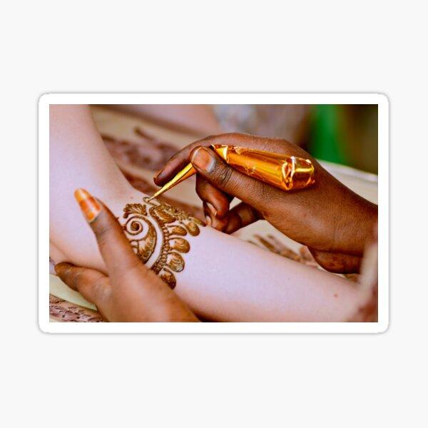 Mehendi For the Bride Sticker